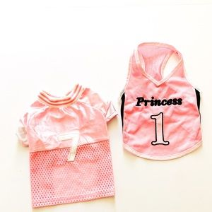 Bundle of 2 Pink Vented Puppy Sporty Tops